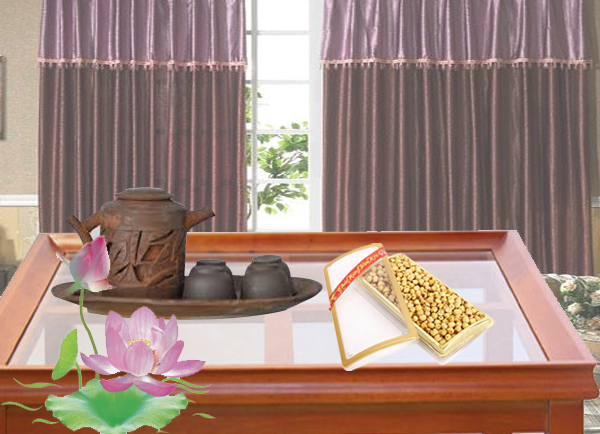 Dried lotus seed box